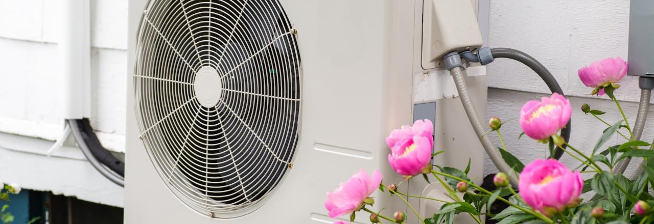 exterior heat pump, exterior min split, goggin energy, me
