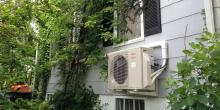 exterior view mini split, heat pump, past project